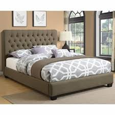bedroom awesome white metal headboards queen grey upholstered