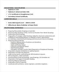 drafting resume professional autocad drafter templates to