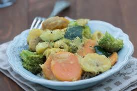 cuisiner patate douce poele curry de patate douce brocoli et courgette vegan au vert avec lili