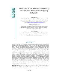 cbr engineering evaluation of modulus of elasticity and modulus of subgrade