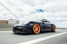 porsche gold porsche 997 turbo brixton forged wheels