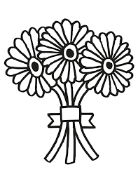 wedding flowers drawing wedding bouquet 2 free printable coloring pages