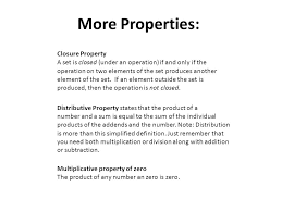 properties of real numbers ppt video online download