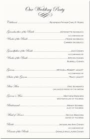 wedding program order wedding ceremony order program designs agency
