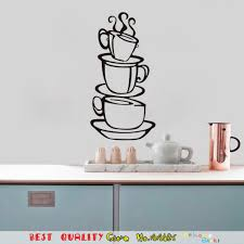 compare prices on kitchen sticker wall online shopping buy low cup tea coffee stickers kitchen wall decor decoration 3d diy wall decal for home dining room