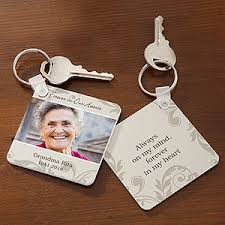 in memory of keychains personalized photo keyring in loving memory