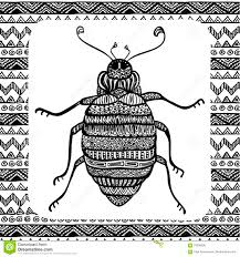 coloring page of balck bug stock vector image 70300369