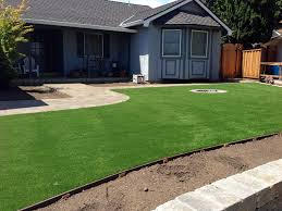 synthetic grass sandalfoot cove florida landscape design front