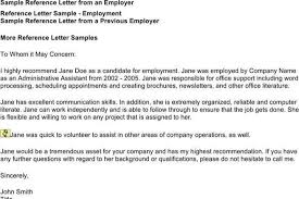free sample recommendation letter from employer sample