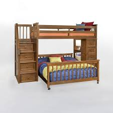 School House Stair Loft With Chest End Pecan Loft Beds At - Simply bunk beds