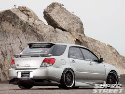 subaru hatchback wing 2005 subaru wrx wagon the transporter super street magazine