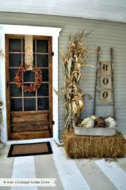 front doors rustic halloween fall porch decor home door ideas