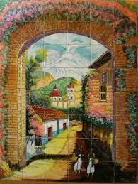 mexican tile tile murals painted tiles and google search