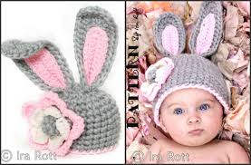 pattern crochet chunky bunny hat with flower pdf pattern for 5