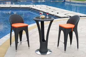 furniture contemporary dark rattan bar stools with small round