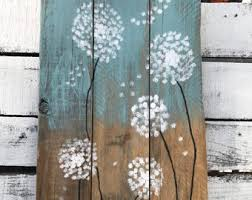 dandelion wood plaques wall pallet wall etsy