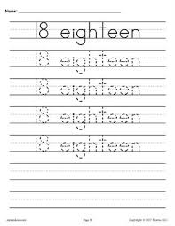 free number tracing worksheets 1 20