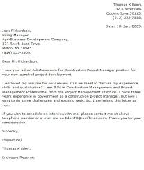 project manager cover letter construction project manager cover letter exles adriangatton
