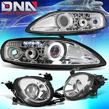 lexus sc300 headlight assembly for 92 00 z30 sc300 sc400 chrome halo ring projector led drl high