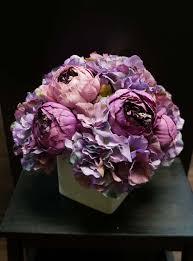 Cube Vase Centerpieces by Jennysflowershop 10 U0027 U0027 Silk Peony Hydrangea Arrangement