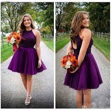 purple bridesmaid dresses lovely purple bridesmaid dresses 2017 a line halter open