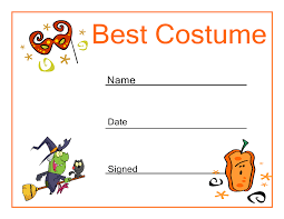 Halloween Party Invite Poem Halloween Best Costume Certificate Halloween Party Ideas