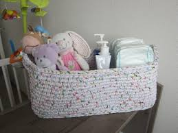 panier rangement chambre bébé panier de rangement en trapilho pour chambre de bébé grand panier