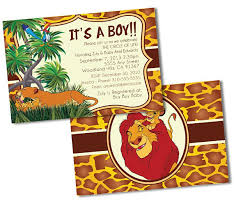 lion king baby shower invitations lion king baby shower invitations custom baby shower