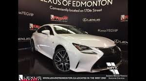 lexus rc price canada 2017 lexus rc 350 awd review youtube