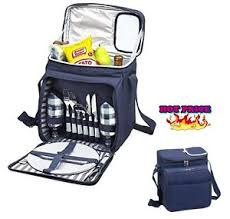 picnic basket set 2 person insulated baskets ware set carry