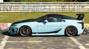 beefy lexus lfa prototype caught on nurburgring video
