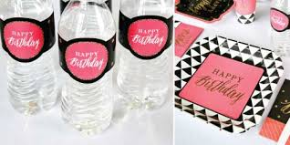 60th birthday party favors chic pink black and gold 60th birthday birthday party theme