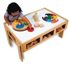 wooden activity table for child s wooden activity table for home daycares and play centers