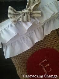 Homemade Christmas Stockings by No Sew Diy Burlap Christmas Stockings