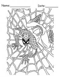 spiderman printable coloring pages