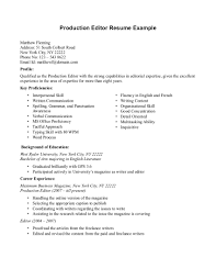 Punctuation In Resumes Editor Resume Resume Templates