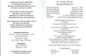 memorial service programs sample template memorial service