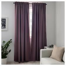 Lilac Curtains Majgull Blackout Curtains 1 Pair Ikea