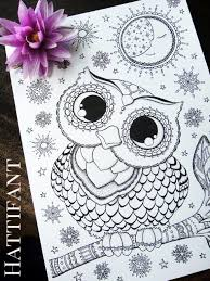 More Owl Coloring Pages For Grown Ups Red Ted Art S Blog Owl Color Pages