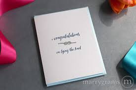 wedding congrats card tying the knot cards wedding congratulations marrygrams