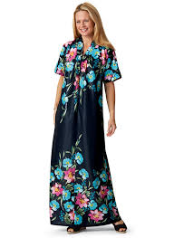 robe mariã e simple border print caftan carolwrightgifts