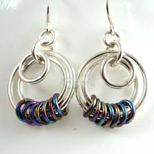 serenity earrings earring kit argentium silver and niobium