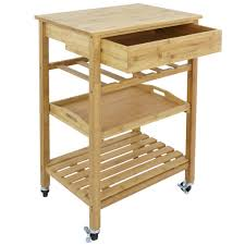 kitchen island trolley zeny bamboo rolling kitchen island trolley cart storage shelf w