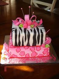 girly animal print birthday cake cakecentral com