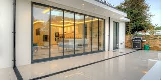 Frameless Patio Doors Bi Folding Doors Ultraslim Aluminium Frameless Glass Doors