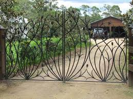 best 25 wrought iron driveway gates ideas on iron