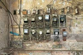 old havana apartment house electrical wiring stock photo getty