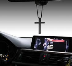 car auto fashion pendant interior jesus religious cross rear view