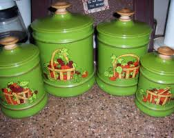 green canister set etsy