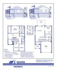 Floor Plans For 2 Story Homes by Sisson Meadows Adams Homes